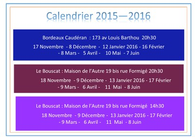calendrier groupe bible